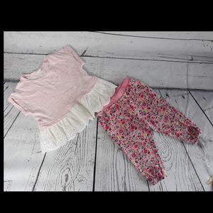 🛒Baby Gap T-Shirt 2Y Jogger 18-24M Pink Girl's